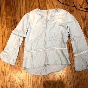 Anthropologie (Cloth & Stone) Chambray Tunic Top